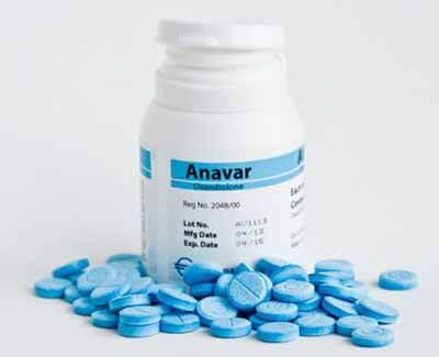 Comprimidos de Anavar azuis