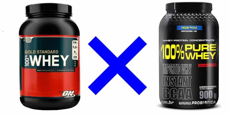 Whey Protein nacional ou importado