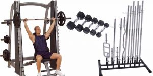 Imagem de Smith Machine, Barras ou Halteres: Qual o melhor para realizar os exercícios?