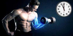 Imagem de Qual o momento do dia onde mais construo músculos?