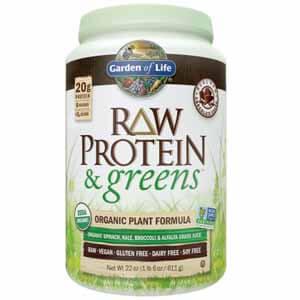 raw protein greens garden life suplemento