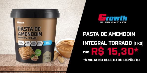 Pasta de amendoim integral growth supplements