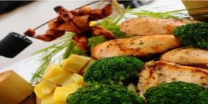 Image de poulet aux patates douces: la nourriture traditionnelle et parfaite pour l'hypertrophie