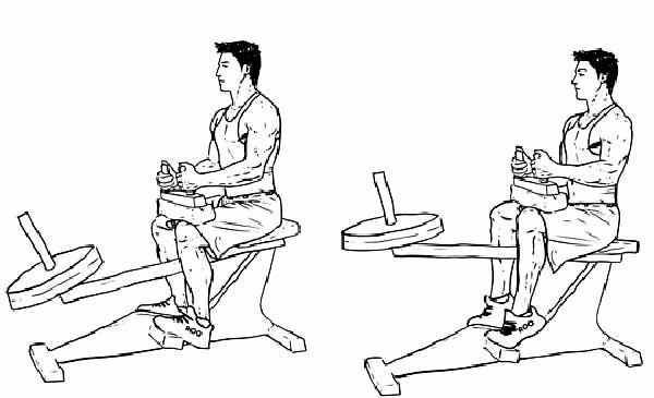 Execução correta do exercício Gêmeos Sentado