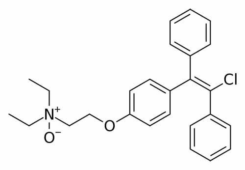 Estrutura Química Citrato de Clomifeno