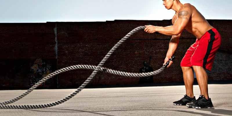 Treino funcional com cordas de Marinheiro