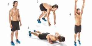 Image Burpee: Un exercice fonctionnel pour améliorer votre physique et votre combustion des graisses!