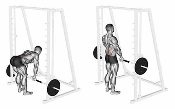 Exercício Stiff com Smith Machine
