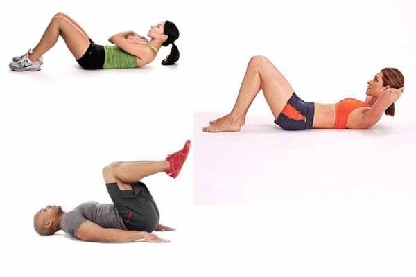 Variações do Exercício Abdominal no Solo