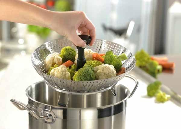 Cozinhando Legumes no Vapor