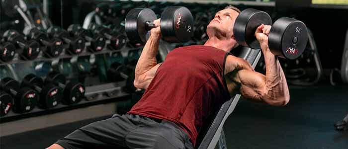 Exercício Supino Reto com Halteres em Alta Intensidade