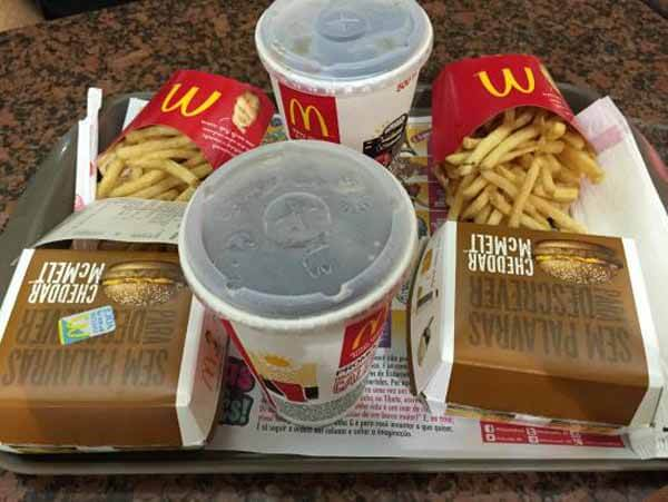 Lanche do MC Donalds na Quebra do Jejum Intermitente