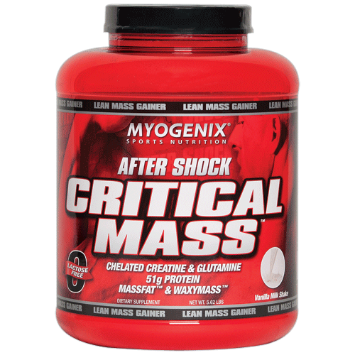 Suplemento After Shock Critical Mass da MyoGenix
