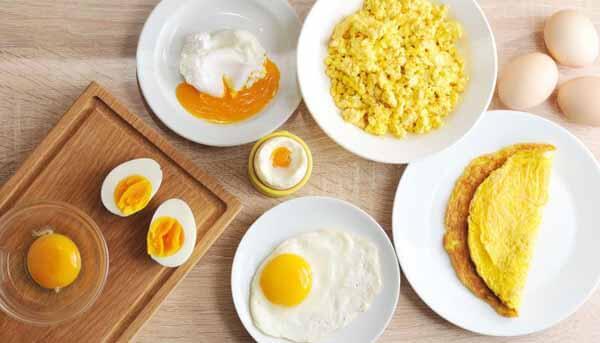 diferentes tipos de preparar os ovos