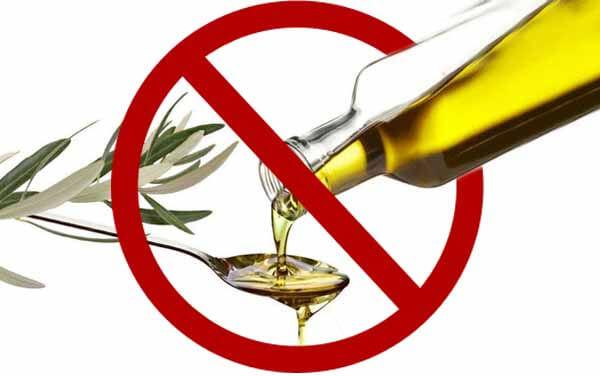 Não colocar azeite em todas as refeições