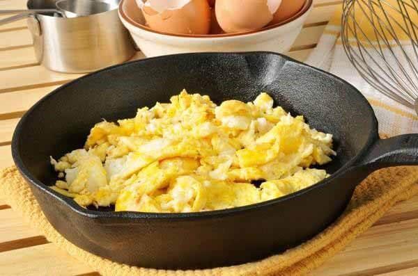 ovos mexidos com batata