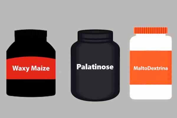 Diferença entre maltodextrina, palatinose e waxy maize