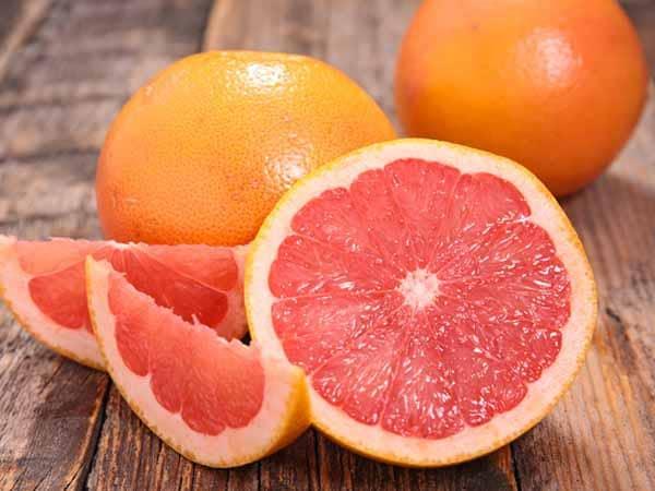 grapefruits são alimentos com poucas quantidades de calorias