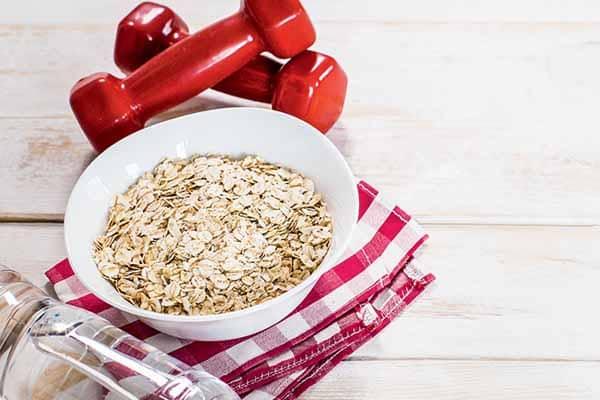 benefícios da aveia para a musculação