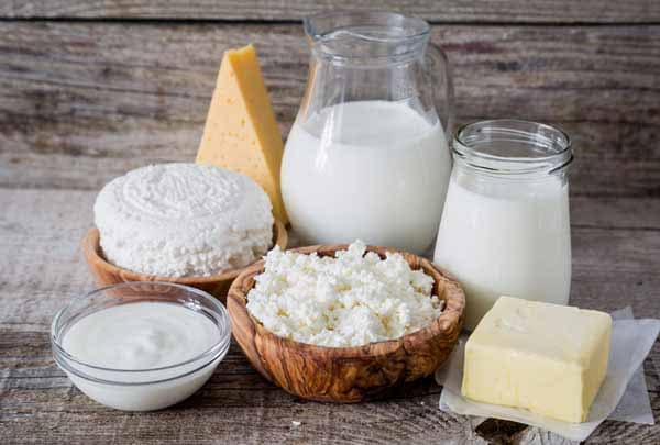 consuma alimentos lácteos
