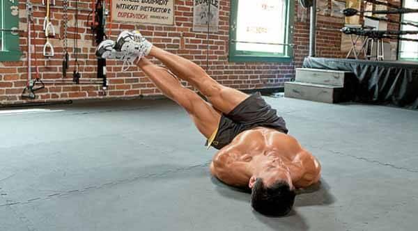 exercício calistenia abdominais