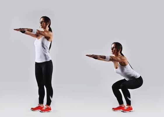 exercício calistenia agachamento peso corpo