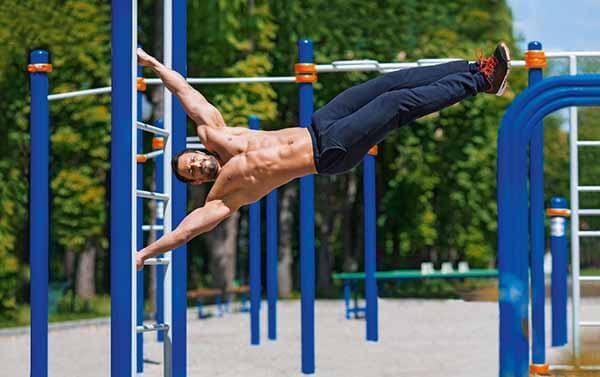 exercício calistenia barras fixas