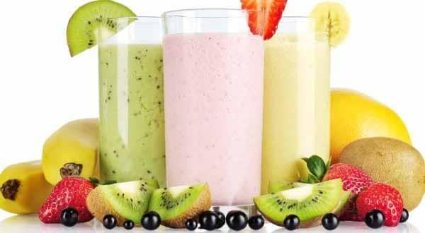 receita de vitaminas de frutas fitness