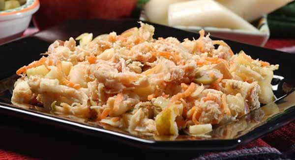 receita salada de frango fitness