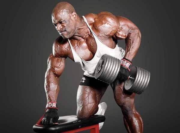 ronnie coleman treino tríceps com halteres