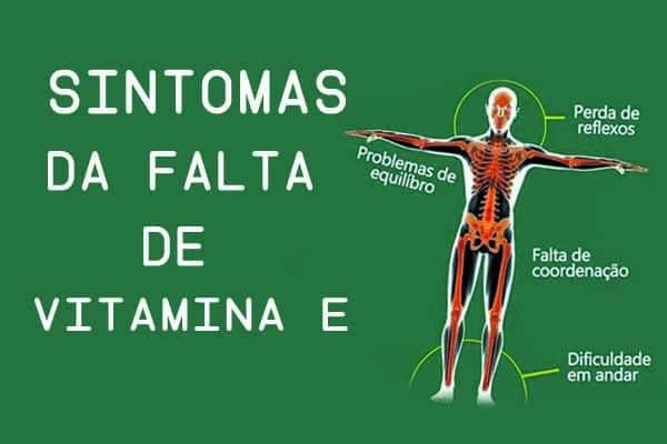 Sintomas da falta vitamina E