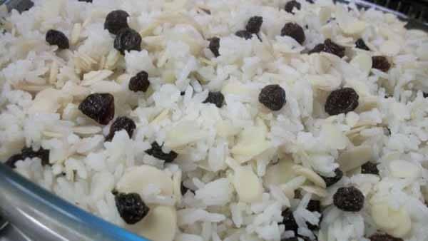 arroz com uva passas pos treino
