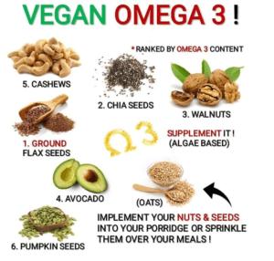 Vegetariánsky obrázok: Ako získať veganské omega-3 z rastlinných zdrojov