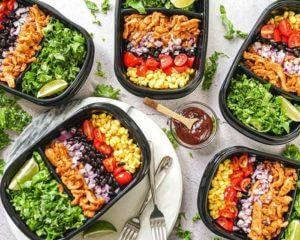 대량 증가를 위한 채식 메뉴 이미지(커피, 점심 및 저녁 식사)